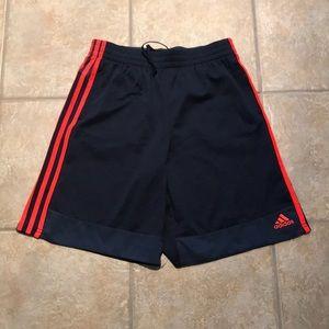 Adidas XL youth sport shorts.